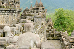 Borobudur Buddhist temple Royalty Free Stock Images