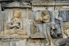 Borobudur Buddhist temple Royalty Free Stock Photos