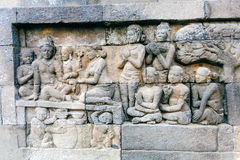Borobudur Buddhist temple with Stone Carving, Magelang,  Java Stock Image