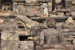Borobudur, a Buddhist temple in Yogyakarta inscribed on the UNESCO Stock Image
