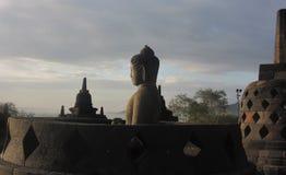 Borobudur Buddist tempel Fotografering för Bildbyråer