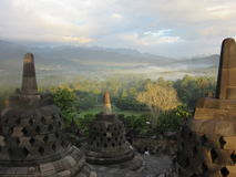 Borobudur Buddist tempel Royaltyfri Foto