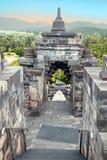 Borobudur Buddist Temple in island Java Indonesia at sunrise Stock Image