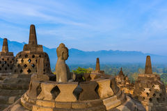 Borobudur Buddist Temple - island Java Indonesia Stock Images