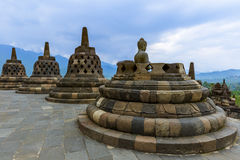 Borobudur Buddist Temple - island Java Indonesia Royalty Free Stock Photos