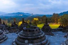Borobudur Buddist Temple - island Java Indonesia Royalty Free Stock Images