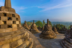 Borobudur Buddist Temple - island Java Indonesia Royalty Free Stock Photos