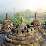 Borobudur, Buddist Temple in Yogyakarta, Indonesia Stock Images