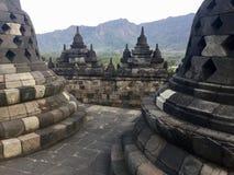 Borobudur Buddyjska świątynia Stupas Blisko Yogyakarta na Jawa wyspie, Indonezja obraz stock