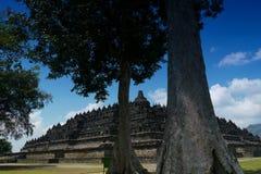 borobudur centrala indonesia java Arkivbild