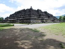 Borobudur - complete view. Borobudur - UNESCO World Heritage site - Indonesia complete view Royalty Free Stock Photography