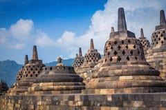 Borobudur is een Boeddhistische Tempel van negende-eeuwmahayana Stock Fotografie