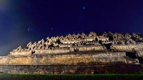 Borobudur, een de 9de eeuw Boeddhistische Tempel stock afbeeldingen