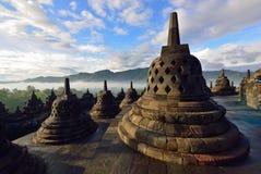 Borobudur, een de 9de eeuw Boeddhistische Tempel in Magelang, Centraal Java, Indonesië Royalty-vrije Stock Foto