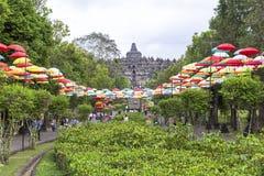 Borobudur-Erbe in Yogyakarta, Indonesien Stockfotos