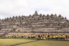 Borobudur-Erbe in Yogyakarta, Indonesien Stockfotografie