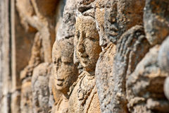 Borobudur faces Royalty Free Stock Photo
