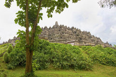 Borobudur from the ground level, Java, Indonesia. Royalty Free Stock Image