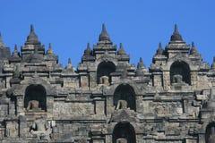Borobudur in Indonesië Royalty-vrije Stock Foto's