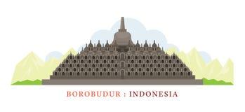 borobudur indonesia Royaltyfri Foto