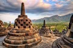 Borobudur Indonesia. Taken in 2011 Stock Photos