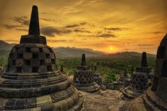 Borobudur Indonesia. Taken in 2011 Stock Photography