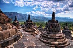 Borobudur Indonesia. Taken in 2011 Royalty Free Stock Photography