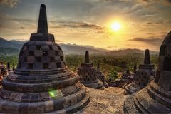 Borobudur Indonesia. Taken in 2011 Royalty Free Stock Images