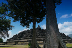 Borobudur, Java central, Indonésie Photographie stock