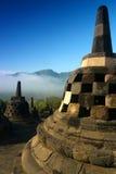 Borobudur, Java central, Indonesia Imágenes de archivo libres de regalías
