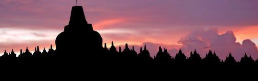 borobudur Java Indonesia słońca Obrazy Royalty Free
