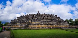 Borobudur, Java, Indonesien Stockbilder
