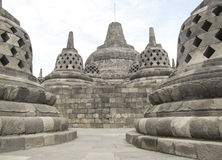 Borobudur in Java Royalty Free Stock Photography