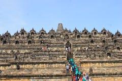 Borobudur-Leute Stockfoto
