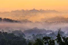 Borobudur, Magelang, Środkowy Jawa, Indonezja obrazy royalty free