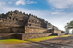 Borobudur mandala temple in surice , near Yogyakarta on Java, In royalty free stock photo