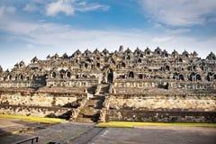 Borobudur mandalatempel, nära Yogyakarta på Java, Indonesien Royaltyfri Foto