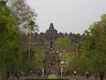 Borobudur na cidade de Yogyakarta Curso em Indonésia 8 de outubro fotos de stock