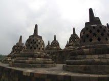 Borobudur na cidade de Yogyakarta Curso em Indonésia 8 de outubro fotografia de stock