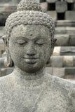 Borobudur Old Stone Buddha Statue Indonesia Royalty Free Stock Images