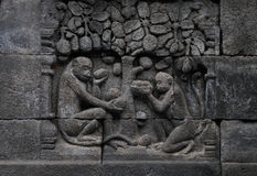 Borobudur relief Royalty Free Stock Image