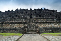 Borobudur Ruins. At Yogyakarta, Central Java, Indonesia Royalty Free Stock Photo