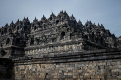 Borobudur. Side view of Borobudur temple, Java, Indonesia Stock Image