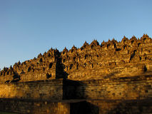 Borobudur am Sonnenaufgang Stockbilder
