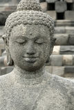 Borobudur old stone buddha statue indonesia Royalty Free Stock Images