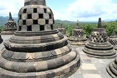 Borobudur. Stone statues in Borobudur Indonesia Stock Photos