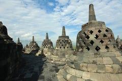 Borobudur Stupa por la mañana foto de archivo libre de regalías