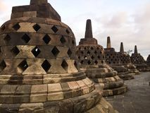 Borobudur Stupas Stock Foto