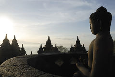 Borobudur Sunrise Stock Photo
