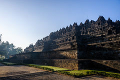 Borobudur sunrise, Java, Indonesia royalty free stock photo